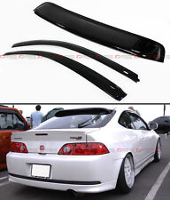 For 02-06 Acura RSX DC5 Type-S JDM Window Visors Vent + Rear Roof Visor Combo
