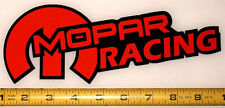 "Mopar Racing! Very Bold! Orange on Black HQ Vinyl Sticker Decal 9"" x 3.4""!"