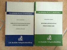 Zwangsvollstreckungs Konkurs-Recht Privatrecht Juristische Kurz-Lehrbücher Buch