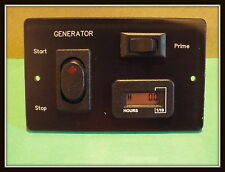 NEW GENERATOR REMOTE START/STOP PRIME PANEL WITH HOUR METER RV MOTORHOME