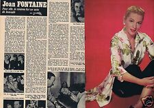 Coupure de presse Clipping 1972 Joan Fontaine   (4 pages)