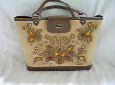 "Vintage Enid Collins Bucket Purse ""Tapestry"" with Original Price Tags"