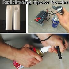 Vehicles Fuel Injector Flush Cleaner Adapter DIY Kit Cleaning Tool 2pcs Nozzle