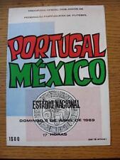 06/04/1969 portugal/mexique [au stade nacional]. les défauts avec cet objet
