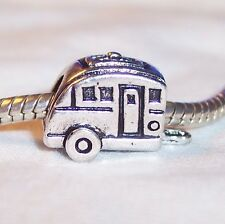 Camper RV Mobile Home Camping Trip Bead for Silver European Charm Bracelets