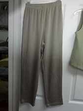 Ladies Light Shiny Size 10P Petite Pants Elastic Waist Petites Polyester Cotton