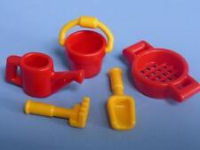 Playmobil plage/sable jouets enfants maison parc extras neuf rouge & jaune