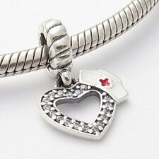 DOCTOR NURSE RN MEDICAL DANGLE CHARM Sterling Silver.925 f European Bracelet 635