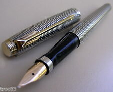 STYLO PARKER EN ARGENT MASSIF PLUME OR 18 CT ANCIEN DE COLLECTION VERS 1970