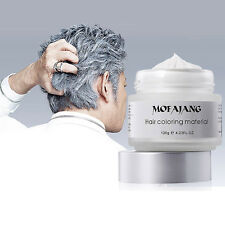 Silver Ash Grey Long-lasting Hair Styling Pomade Wax Cream Natural Hairstyle