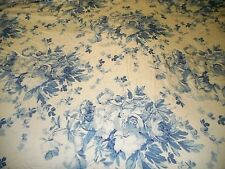 Rare Ralph Lauren Elsa Blue Floral King Fitted Sheet White Roses French Country