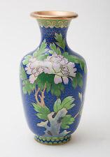 Chinese Blu Nuvola a terra vaso CLOISONNE smaltato con disegno floreale