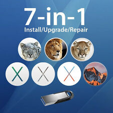 7-in-1 Mac OS X Install Disk - 10.6, 10.7, 10.8, 10.9, 10.10, 10.11, 10.12