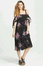 NWT Free People Tied To You Floral Midi Dress Size M 8-10 MSRP $128