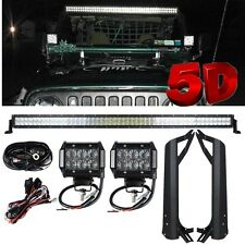 5D 50Inch 480W CREE Led Light Bar+Mount Brackets Fit for Jeep Wrangler TJ 97-06