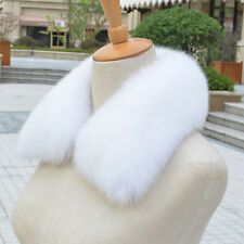 Cheaper Real Farm Fox Fur Collar Women Scarf Shawl Stole Wrap Furry Neck Winter