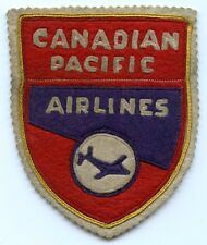 Great Old 1940's Canadian Pacific Airlines Flight Jacket Patch