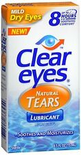 Clear Eyes Natural Tears Lubricant 0.50 oz (Pack of 8)
