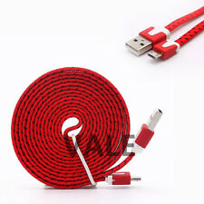 Strong Braided Noodle Micro USB Data Sync Charger Cable Cord For Mobile Phones