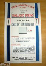 1966 INTER - NAPOLI Locandina Gemellaggio Campione d'Italia Lugano Casinò calcio