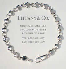 Tiffany & Co Sterling Silver Heart Link Continuous Heart Bracelet