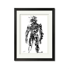 Yoji Shinkawa x Metal Gear Rising Raiden Ink Brush Poster Print
