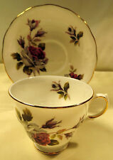 Queen Anne Floral Tea Cup & Saucer Made in England