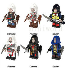 Compatiole Lego 6pcs Minifigures Assassin's Creed Character Ezio Firenze Toy