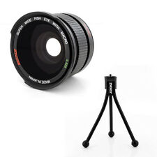 Wide Angle FISHEYE .42X Lens + Macro + tripod fo Nikon 1 J1 V1 camera,Japan made