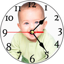 Personalised wall clock,fun,gift,present,photo,image,printing,