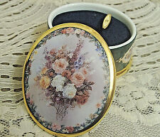 """Lena Liu Cameos Music Box 1998 Floral """"Glory"""" from Endless Love 73716"""