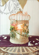 Mariage deco oiseau cage centerpiece style vintage antique hanging medium