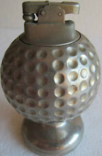 """VINTAGE GOLF BALL TABLE LIGHTER-MADE IN OCCUPIED JAPAN  4 1/2"""" TALL"""