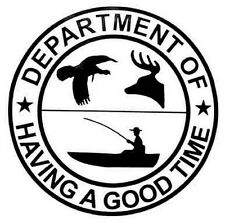 """""""Department Of Having A Good Time""""   Travel  Sticker"""
