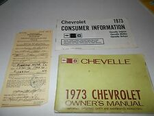 1973 Chevrolet Chevelle owner's manual