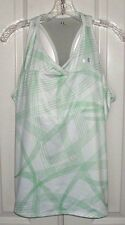 UNDER ARMOUR HEATGEAR WOMEN'S SLEEVELESS TENNIS TOP FITTED WHITE SIZE XL
