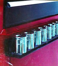 "GREAT NECK MAGNETIC SOCKET TOOL HOLDER ORGANIZER Holds 10-12  3/8"" Dr Sockets, N"