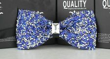 Stylish Mens Diamond Studded Sparkling Partying Wedding Groomsmen Bow Tie