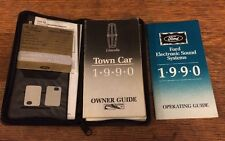 1990 LINCOLN TOWN CAR OWNER'S MANUAL / ORIGINAL OWNERS GUIDE BOOK + EXTRAS
