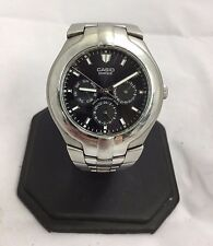 Casio Men's Edifice Stainless Steel Chronograph Black Face Watch EF 304 (1343)