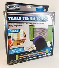 New In Box - Franklin Table Tennis To Go Portable Ping Pong Anywhere
