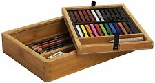 Conte Bamboo Wooden Box Set Pencil  Pastel  Artist Sketching