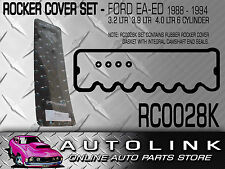 RUBBER ROCKER COVER GASKET KIT WITH BOLT SEAL WASHERS SUIT FALCON EA EB ED 6CYL