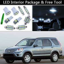 6PCS Bulbs White LED Interior Car Lights Package kit Fit 2002-2006 Honda CR-V J1