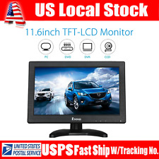 "NEW Portable 11.6"" TFT LCD Color Monitor Screen HDMI BNC AV PC Input for PC CCTV"