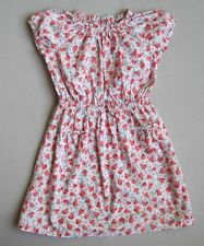 MINI BODEN Girls 9 10 Yrs Pear & Floral Print Dress EUC Pink Red