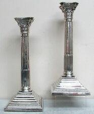 """EXCEPTIONAL 1931 BIRMINGHAM STERLING SILVER 12"""" COLUMN CANDLE STICKS"""