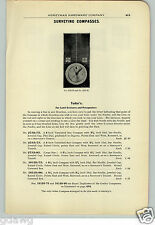 1906 PAPER AD Tudor's Land Cruiser Prospectors' Surveying Compass Compasses