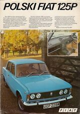 Polski-Fiat 125p 1974 UK Market Preview Leaflet Sales Brochure Saloon Estate FSO