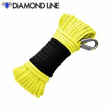 Synthetic Yellow 3/16 Winch Rope 50' ATV Cable Ramsey Warn KFI Compatable
